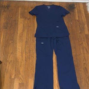 Scrub set in navy blue by Cherokee